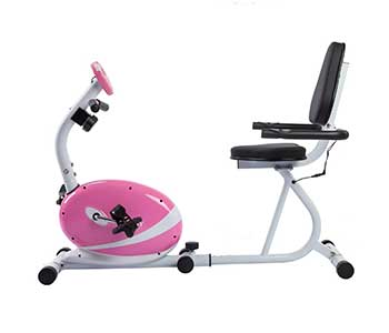 Sunny-Health-&-Fitness-Pink-Magnetic-Recumbent-Exercise-Bike