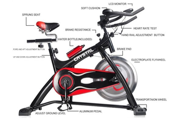 Ainfox Exercise Spinning Bikes With Flywheel Fitness Led