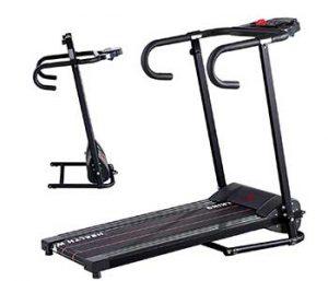 B.S 1100W LED Electric Motorized Treadmill Portable Folding Running Gym Fitness Machine