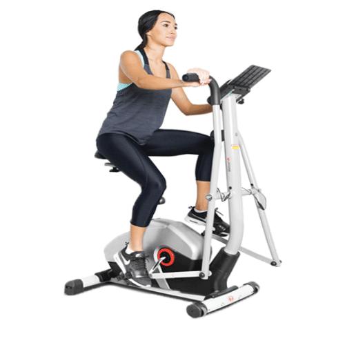 exercising on a recumbent bike