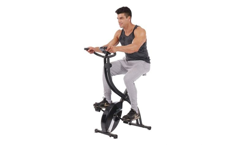 2.PLENY-Foldable-Upright-Stationary-Exercise-Bike-with-16-Level-Resistance