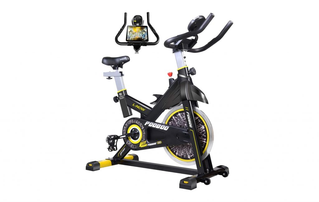 2.pooboo-Indoor-Cycling-Bike-Belt-Drive-Indoor-Exercise-1