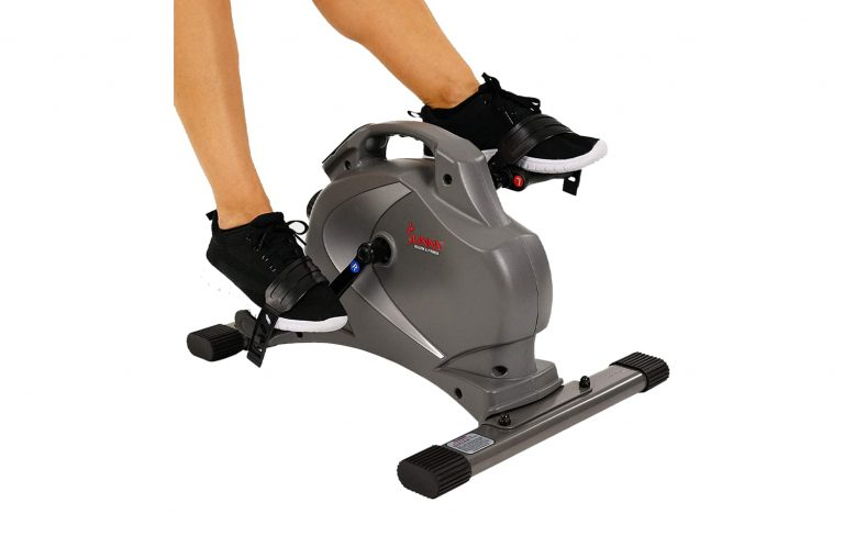 3.Sunny-Health-Fitness-SF-B0418-Magnetic-Mini-Exercise-Bike-Gray