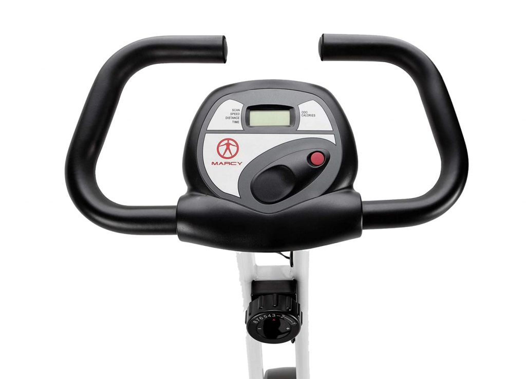 Marcy Foldable Exercise Bike console