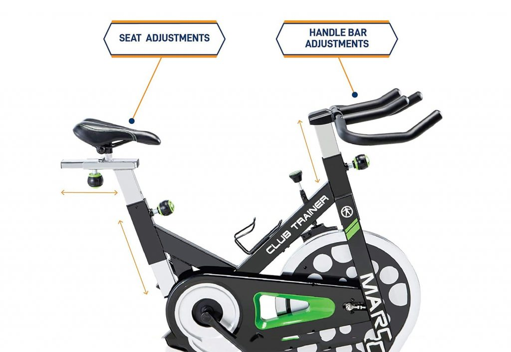 Marcy spin bike console