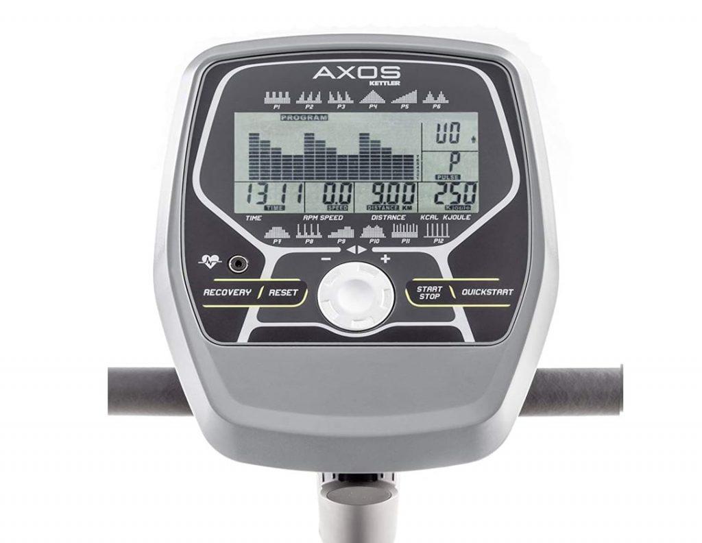 Kettler recumbent exercise bike console