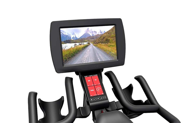 Life fitness spin bike console