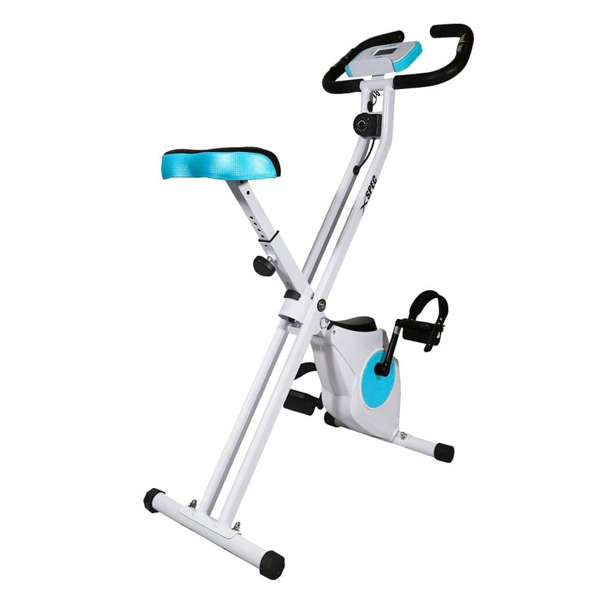 Xspec foldable indoor stationary upright exercise bike