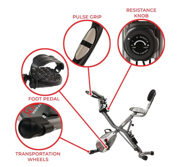 Semi recumbent bike resistence