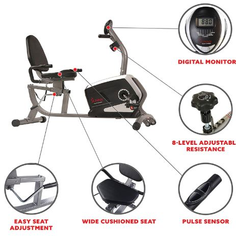 Sunny Health Fitness Recumbent Bike Reviews